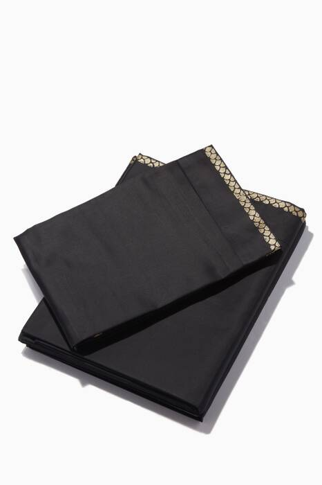 Black New Gold Super King-Sized Duvet & Sheet Set