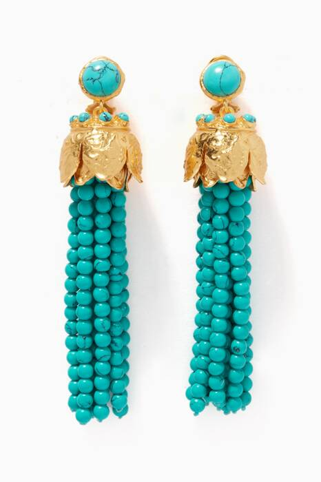 Gold & Turquoise Riya Earrings