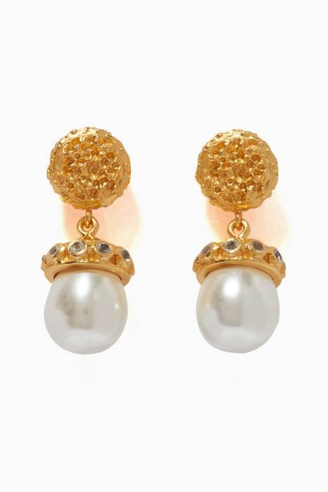 Gold & Faux-Pearl Lois Earrings