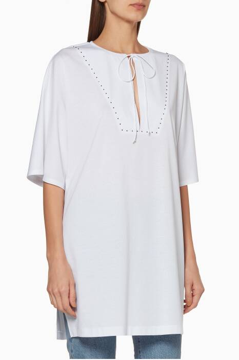 White Short-Sleeve Andrea Top