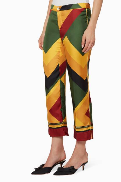 Multi-Coloured Geometric-Print Ceo Pants