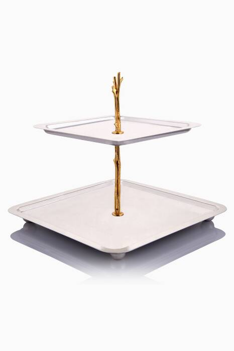 Gold & Silver Plated 2 Tier Stand