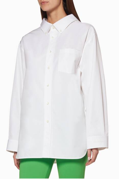 White Swing Collar Shirt