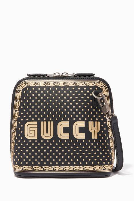 Black Mini Guccy Cross-Body Bag