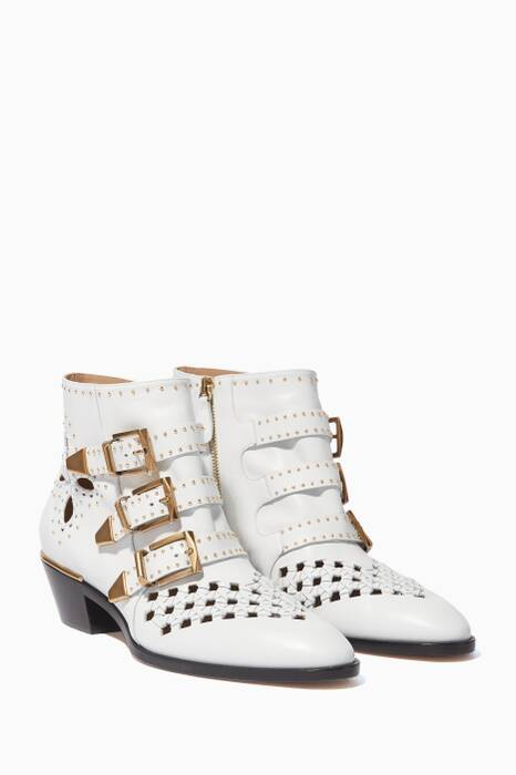 White Classic Susanna Studded Boots