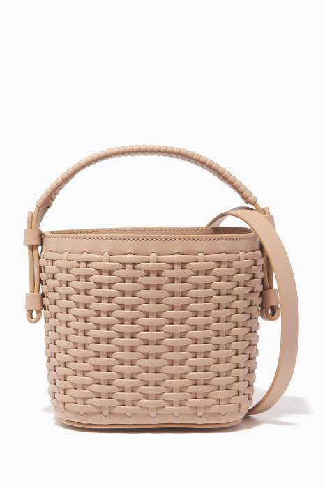 Beige Adenia Mini Bucket Bag
