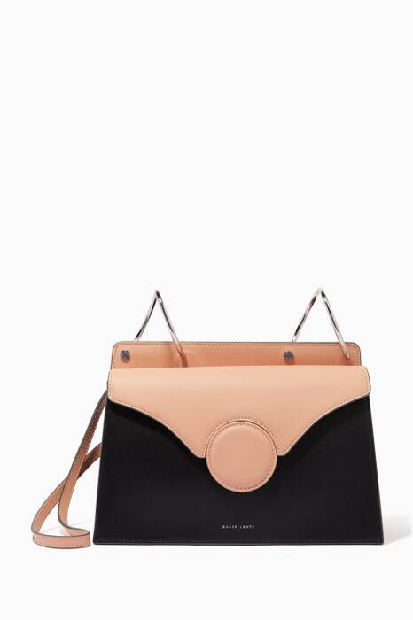 Light-Beige Phoebe Leather Shoulder Bag