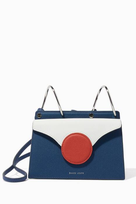 Navy Mini Leather Phoebe Bag
