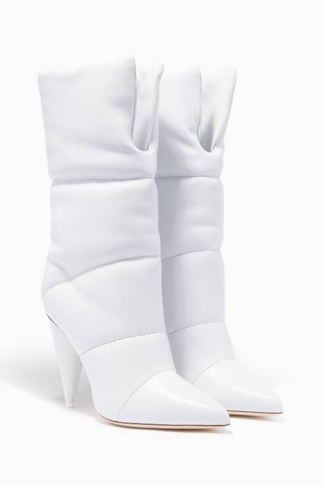 Jimmy Choo X Off-White White Sara Leather Boots