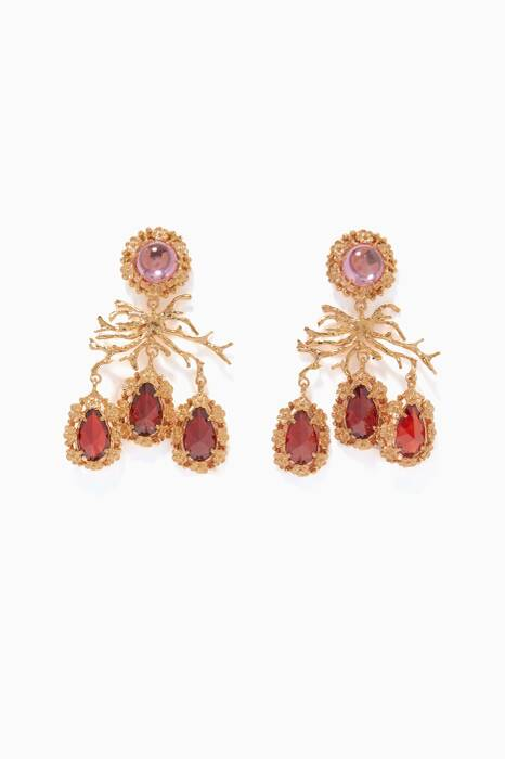Red Corallo Earrings