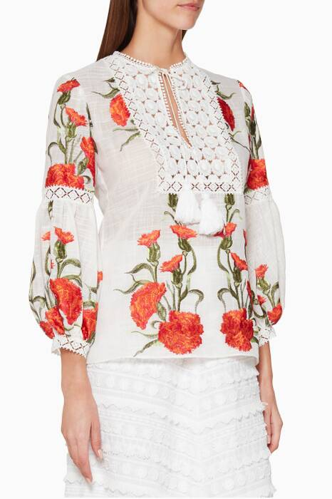 Multi-Coloured Dorit Embroidered Top