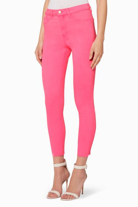 Flamingo-Pink Margot Jeans