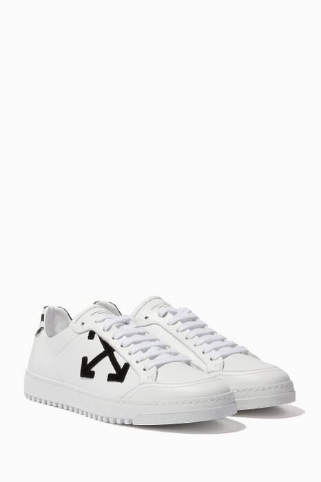 White Arrow Leather Sneakers
