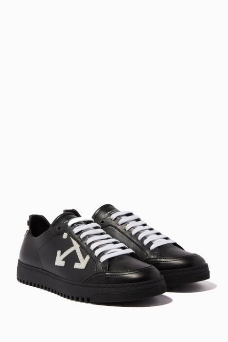 Black Arrow Leather Sneakers