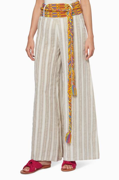 Beige Mariam Wide-Leg Pants