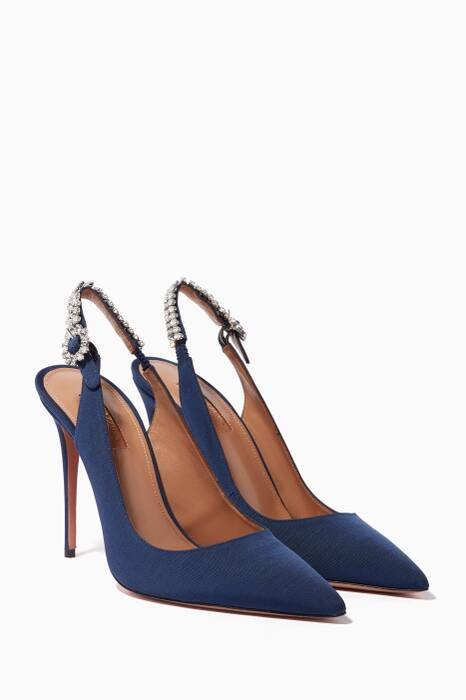 Navy Portrait Of A Lady Slingback Pumps