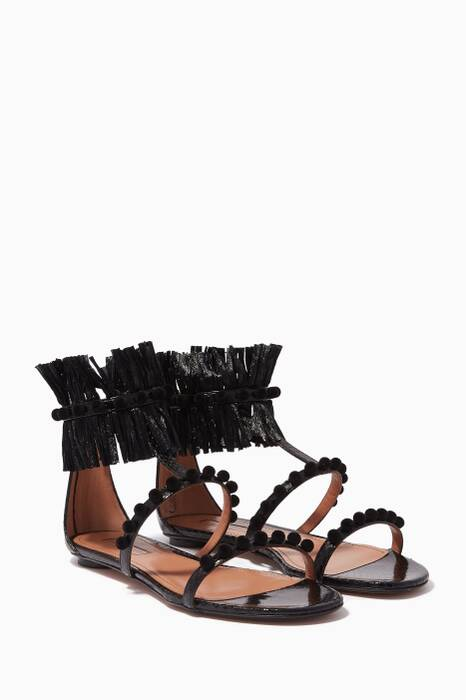Black Cher Embellished Sandals