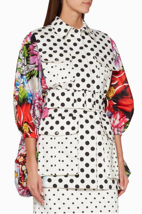 Multi-Coloured Swashed Printed Coat