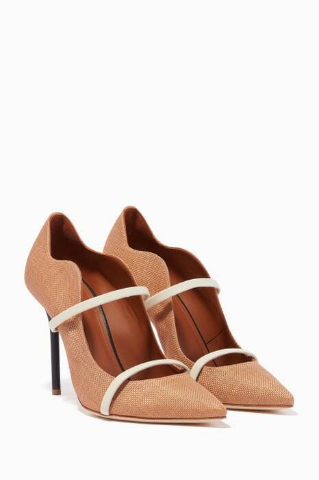 Beige Maureen Raffia Pumps