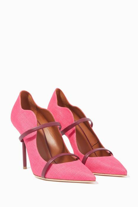 Pink Maureen Raffia Pumps