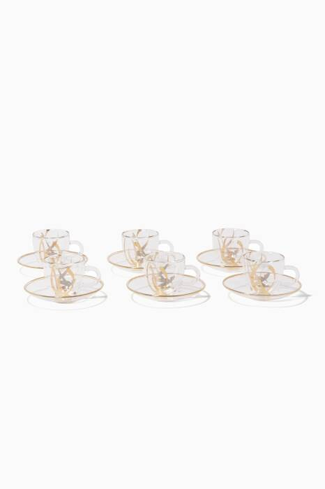Double Glass Coffee Cup, Set Of 6