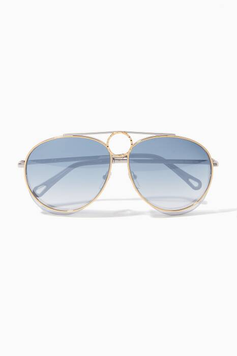 Blue Degrade Romie Aviator Suglassses