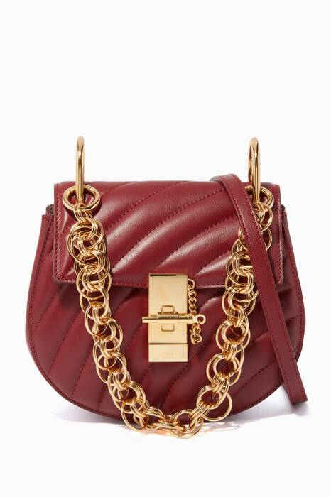 Plum Purple Mini Drew Bijou Shoulder Bag