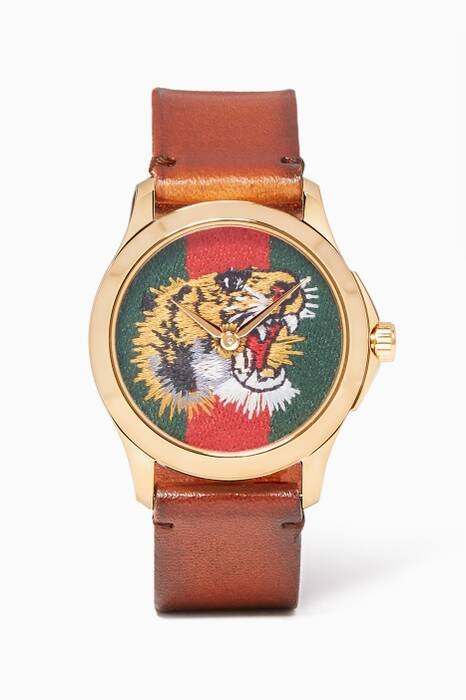 Brown & Green Tiger Le Marché des Merveilles Leather Watch