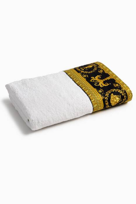 White Baroque Bath Towel