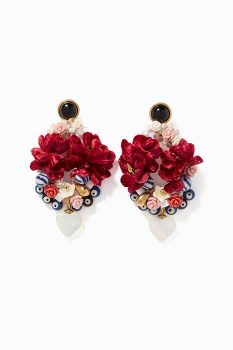 Multi-Coloured Gardenia Earrings