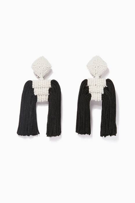 Black & White Short Dupio Earrings