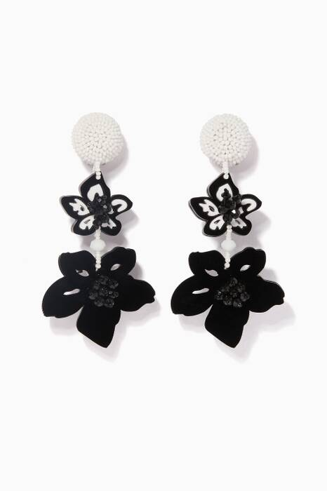 Black & White Luau Drop Earrings