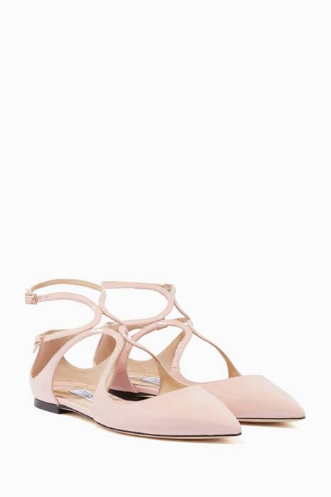 Rosewater-Pink Patent Lancer Flats