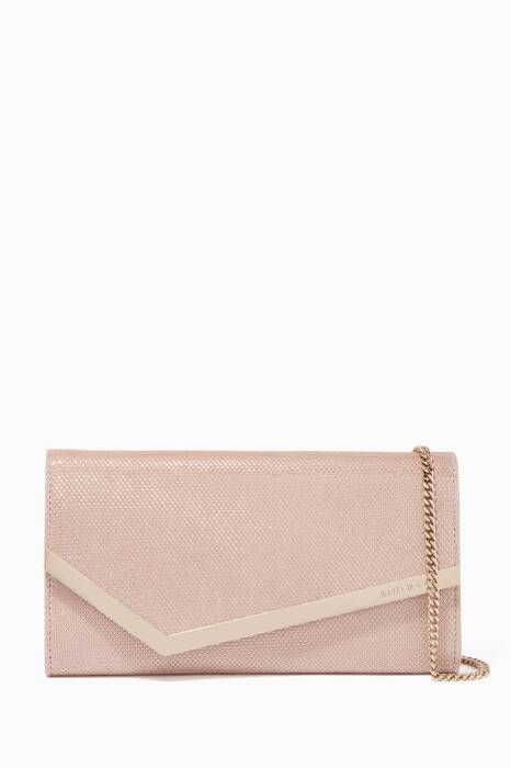 Ballet-Pink Medium Emmie Glitter Clutch
