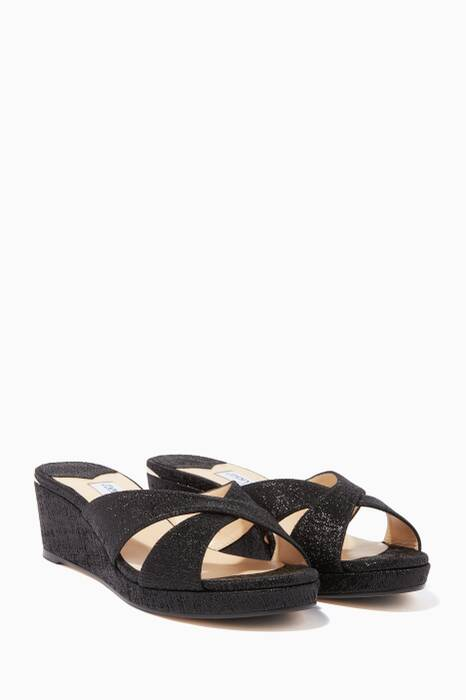 Shiny-Black Almer Wedges