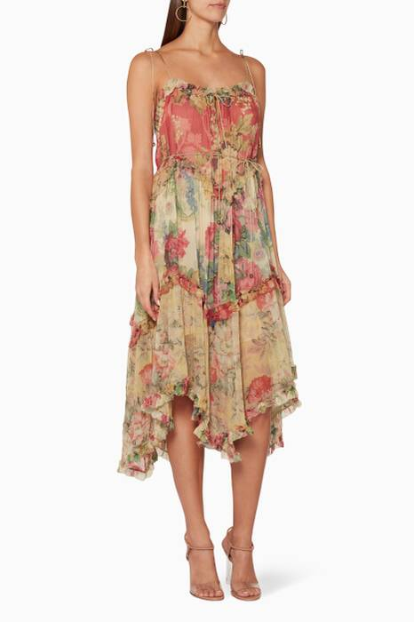 Splice-Print Melody Floating Dress