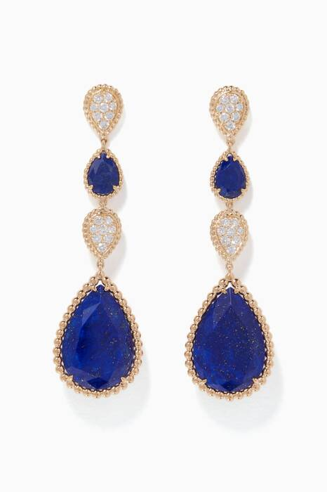 Yellow-Gold & Lapis Lazuli Serpent Bohème Drop Earrings