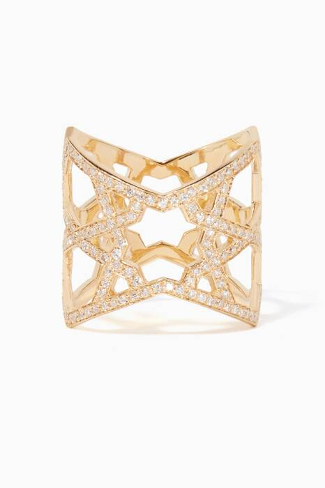 Yellow-Gold & Diamond Arabesque Ring