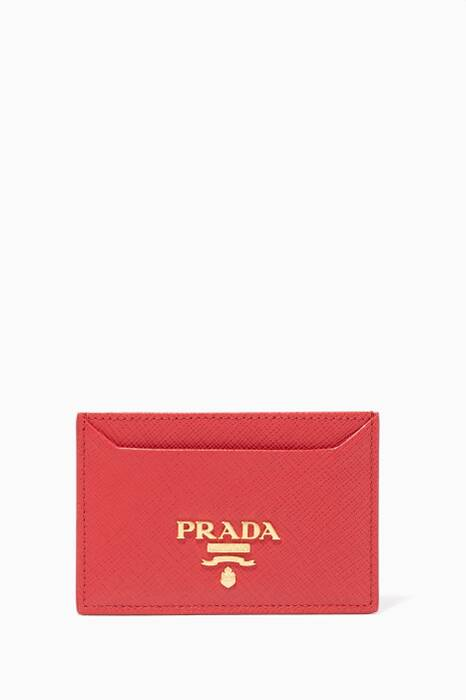 Red Saffiano Leather Cardholder
