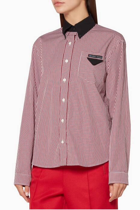 Red Checked Logo Shirt