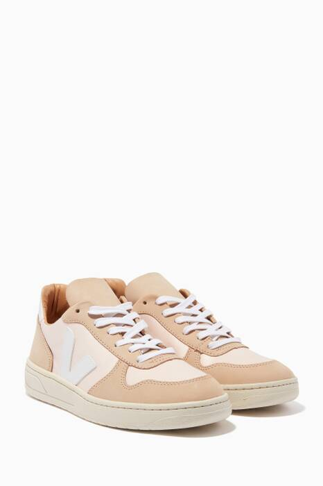 Light-Beige V-10 Bastille Tri-Colour Sneakers