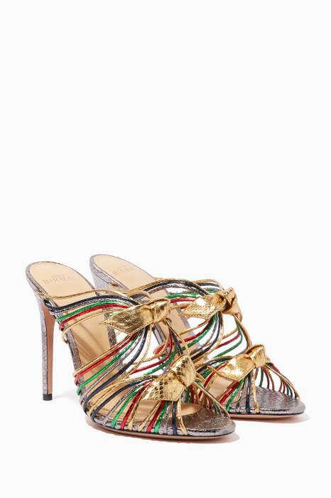 Multi-Coloured Metallic Dallas Mules