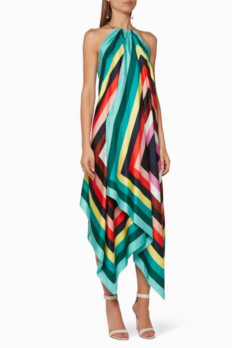 Multi-Coloured Carrington-Striped Gia Dress