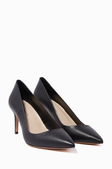 Black Rio Point-Toe Pumps