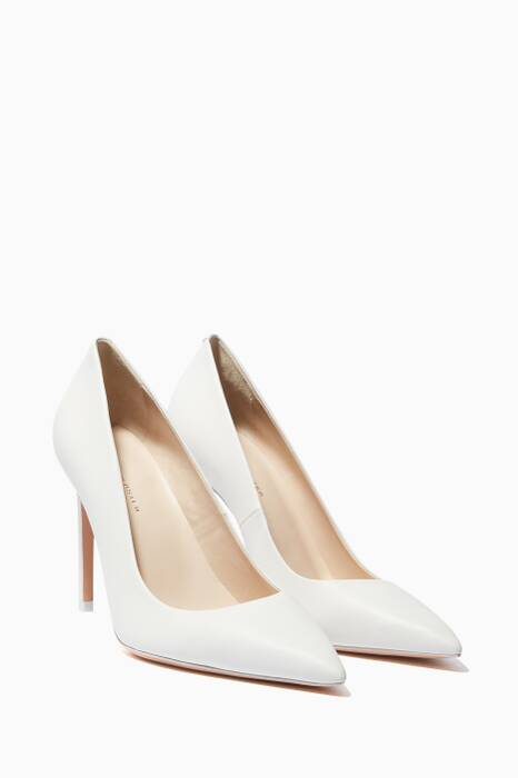 White Rio Point-Toe Pumps