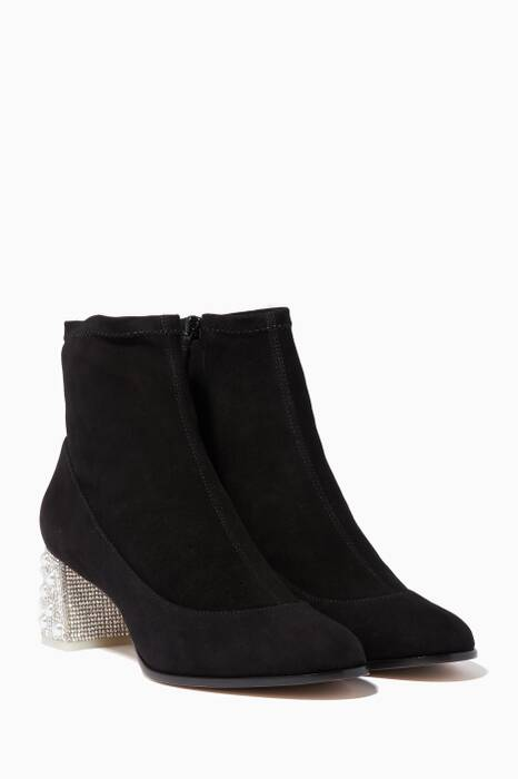 Black Felicity Stretch Booties