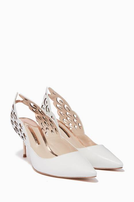 White Angelo Slingback Pumps