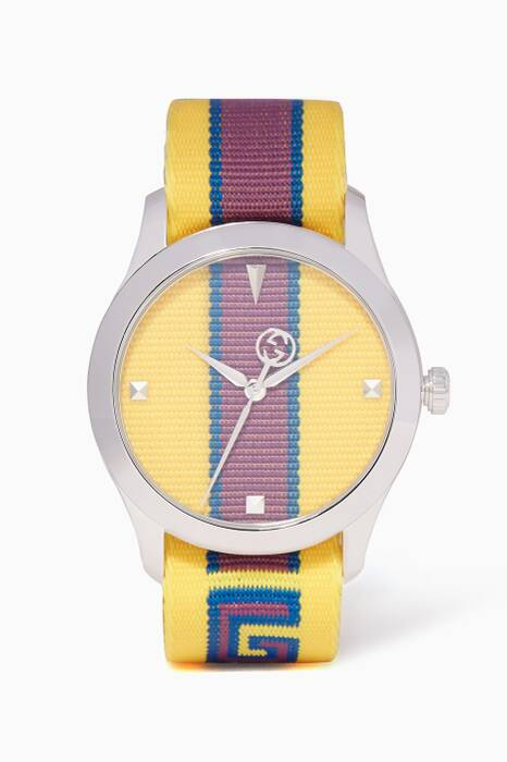 Yellow Striped G-Timeless Watch
