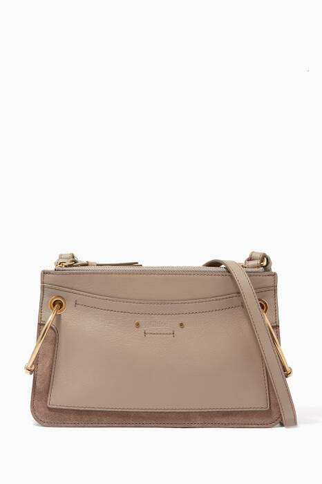 Grey Mini Roy Small Leather Shoulder Bag