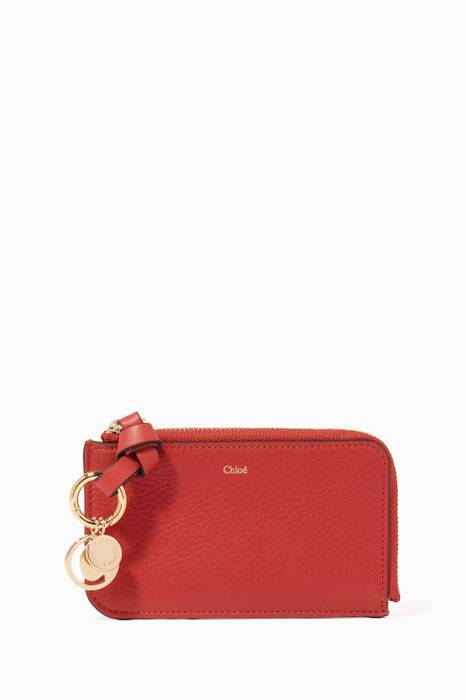Red Small Leather Cardholder
